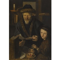 a philosopher with a young child by jan wouters