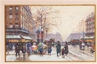 place de la république by eugène galien-laloue