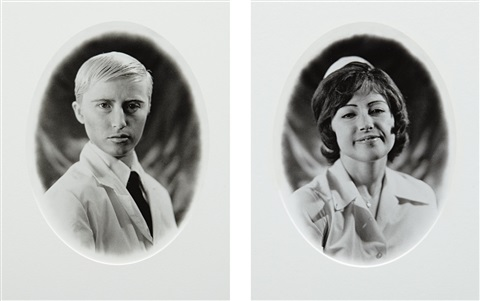 untitled doctor and nurse diptych by cindy sherman