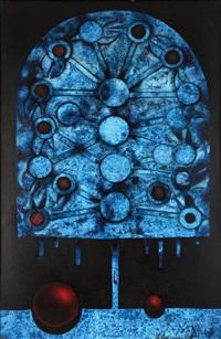 blue shout (attempt at portrait) by mikulas medek