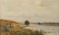 bord de rivière by adrien jacques sauzay
