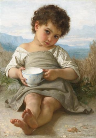 la tasse de lait by william adolphe bouguereau