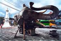 sleeping elephant in the axis of yogyakarta : sultan's palace square by wimbo ambala bayang