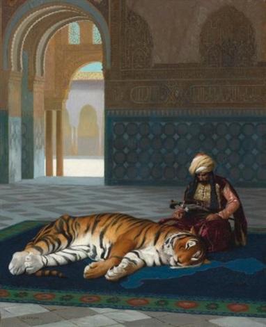 le tigre et le gardien by jean léon gérôme
