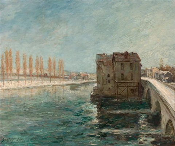 les moulins du pont de moret by alfred sisley