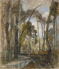 praterlandschaft nach dem regen (the prater gardens after the rain) by tina blau-lang