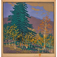 el rito canyon by gustave baumann