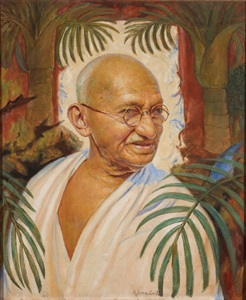 portrait of gandhi by dimitru v. ismailovitch