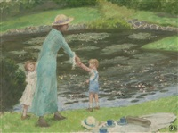 the lily pond (royal botanic gardens, melbourne series) by rupert bunny
