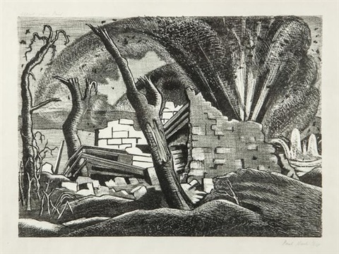 a shell bursting passchendaele by paul nash