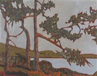 a view from south pender island, b.c. by william (h.w.) townsend
