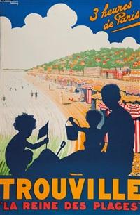 3 heures de paris trouville la reine des plages by edouard courchinoux