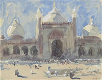 entrance to the jama masjid, delhi by hercules brabazon brabazon