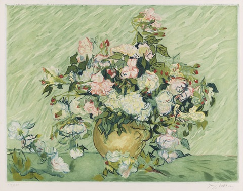 les roses etched by jacques villon by vincent van gogh