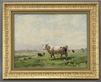 landscape with cattle by rosa bonheur