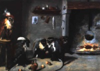 les singes rôtisseurs by abraham teniers