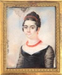 portret młodej kobiety w koralach by jean baptiste jacques augustin