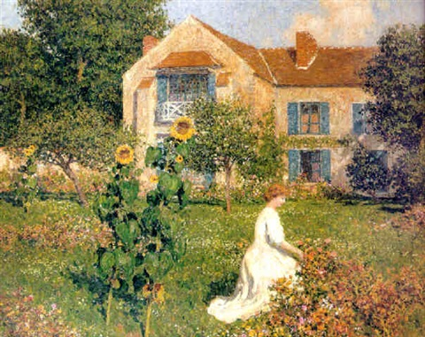 in the garden by marcel adolphe bain