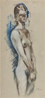 stehender weiblicher akt by joseph floch