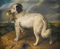 the champion; venus, a landseer newfoundland with a rabbit by sir edwin henry landseer