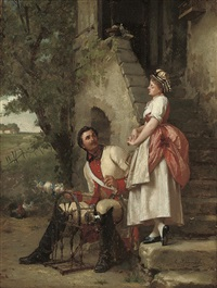 the spinning lesson by emile pierre metzmacher