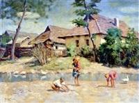 gyerekek a patakparton by janos laszlo aldor
