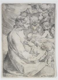 die madonna mit kind und engeln by lodovico carracci