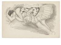danseuse endormie au divan (from dix danseuses) by henri matisse