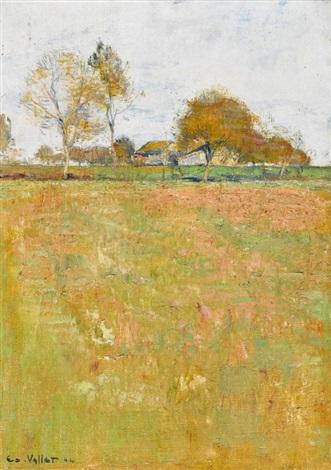 paysage de novembre by edouard eugène françois vallet