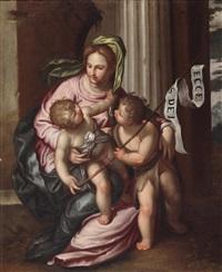 madonna mit kind und dem heiligen johannes by paolo farinati