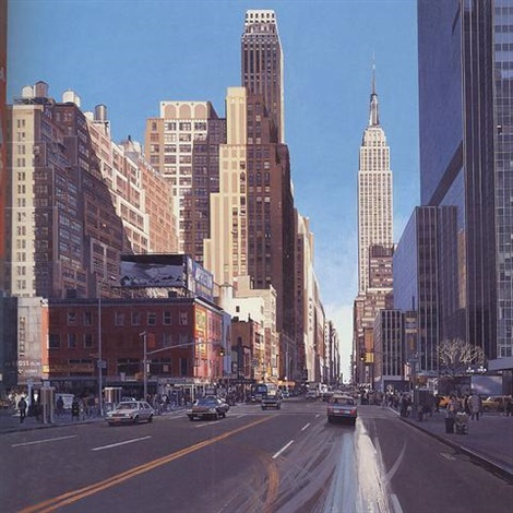 34th street manhattan looking east by richard estes