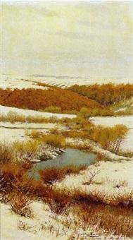 winterlandschaft - oberlauf der tula by viktor pavlovitch baturin