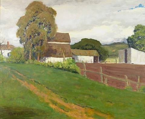 clouds over the farm by arthur hill gilbert