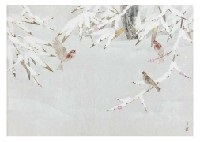 birds in the snow by atsushi uemura