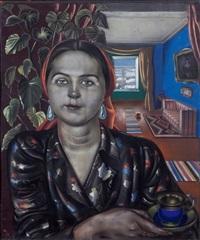 portrait of o.n. olidor by nikolai pavlovich akimov