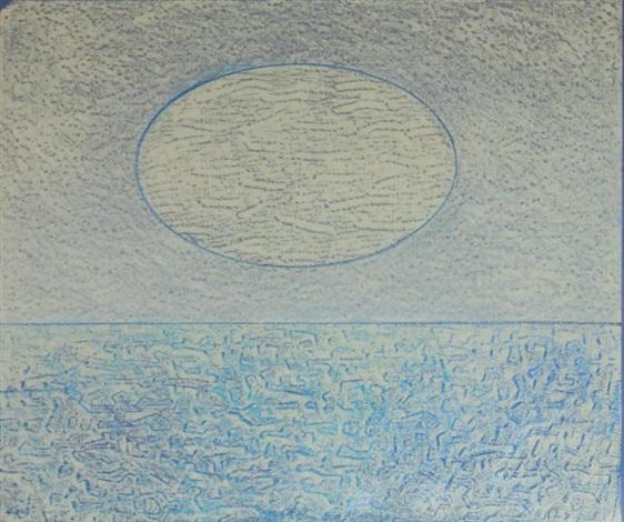 une bande de sardines défilant sous la lune by max ernst