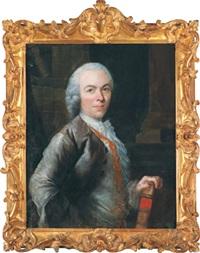 bildnis eines schriftstellers, traditionell identifiziert als porträt des enzyklopädisten denis diderot by jacques andré joseph aved