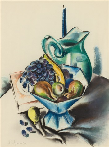 still life with candle by preston dickinson