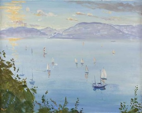 summer boats gourock by norman edgar