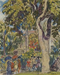 park scene by gifford beal