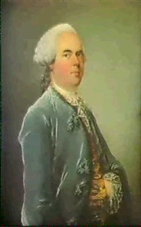 portrait d'homme en habit bleu by louis richard françois dupont