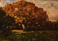tree in a landscape by nathaniel hone the younger