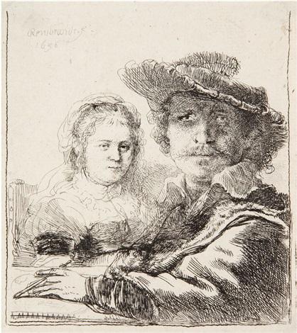 autoportrait avec saskia by rembrandt van rijn