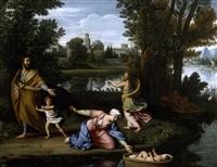 moïse exposé sur les eaux by nicolas colombel