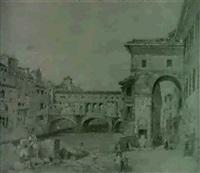 the ponte vecchio, florence by william h. burnett
