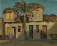 vue d'une maison, talkna, egypte by mahmoud said