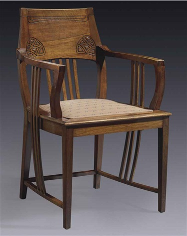 armchair from the villa friedmann by joseph maria olbrich