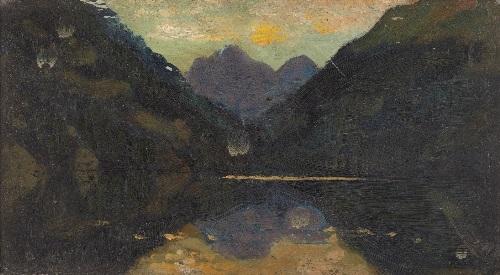 mountainous landscape by arthur bowen davies