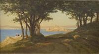 promenade au-dessus des rochers de douarnenez by auguste paul charles anastasi