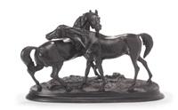 wild horses by baron petr karlovich klodt von jurgensburg
